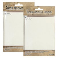 Ranger Ink - Tim Holtz - Distress Watercolor Cardstock - 4.25 x 5.5 - 40 Pack