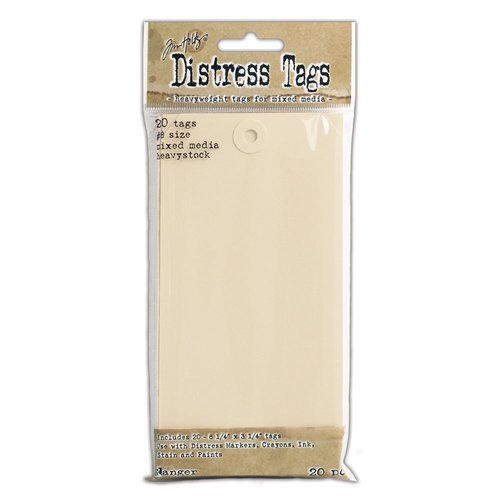Ranger Ink - Tim Holtz - Distress Mixed Media Heavystock - Number 8 Tags - 20 Pack