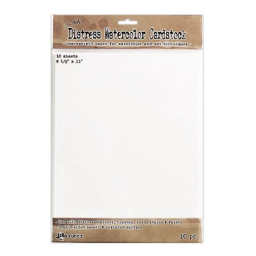 Ranger Ink - Tim Holtz - Distress Watercolor Cardstock - 8.5 x 11 - 10 Pack