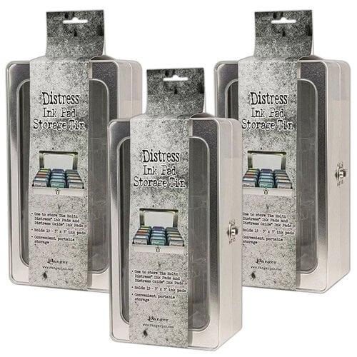 Ranger Ink - Tim Holtz - Distress Ink Pad Storage Tin - 3 Pack