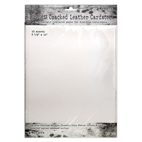 Ranger Ink - Tim Holtz - Distress Cracked Leather Paper - 8.5 x 11 - 10 Pack