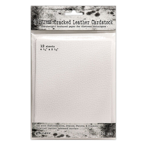 Ranger Ink - Tim Holtz - Distress Cracked Leather Paper - 4.25 x 5.5 - 12 Pack