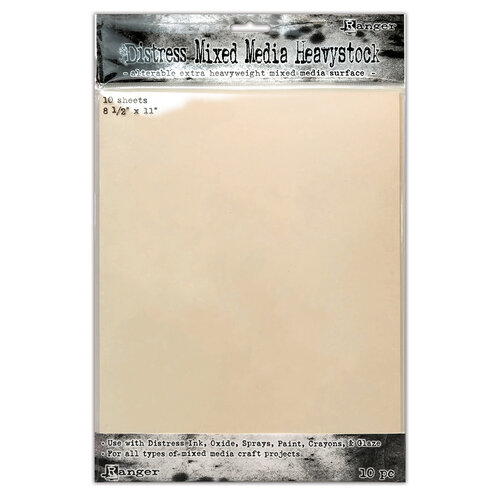 Ranger Ink - Tim Holtz - Distress Mixed Media Heavystock - 8.5 x 11