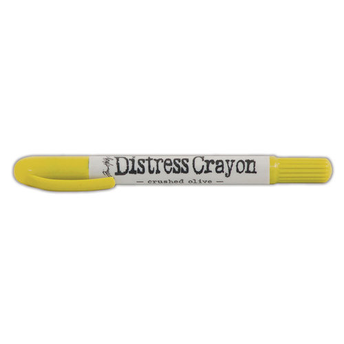 Ranger Ink - Tim Holtz - Distress Crayons - Crushed Olive