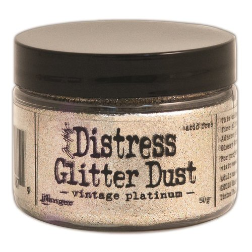 Ranger Ink - Tim Holtz - Distress Glitter Dust - Vintage Platinum