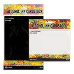 Ranger Ink - Tim Holtz - Alcohol Ink Cardstock - Gloss White and Matte Black Bundle