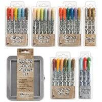 Ranger Ink - Tim Holtz - Distress Crayons Tin and Distress Crayons - Bundle Two