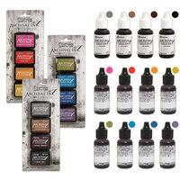 Ranger Ink - Tim Holtz - Distress Archival Ink Pads and Reinkers - 15 Piece Bundle