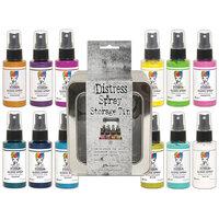 Ranger Ink - Tim Holtz - Distress Spray Storage Tin and Dina Wakley Media - Gloss Sprays Bundle