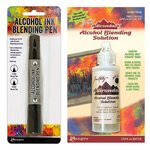 Ranger Ink - Tim Holtz - Alcohol Ink Blending Pen and Blending Solution - 2 oz Bundle