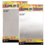 Ranger Ink - Tim Holtz - Alcohol Ink Cardstock - Silver Sparkle and Brushed Silver Bundle