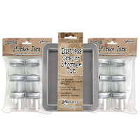 Ranger Ink - Tim Holtz - Distress Crayons Tin with 12 Storage Jars