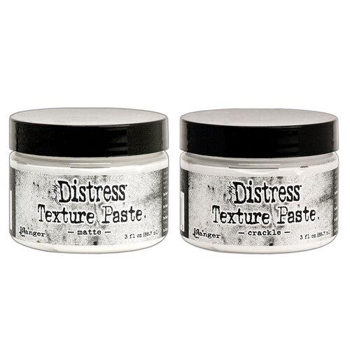 Ranger Ink - Tim Holtz - Distress Texture Paste - 3 Ounces - Matte and Crackle Bundle