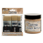 Ranger Ink - Tim Holtz - Distress Collage Brushes and Vintage Medium - 4 Pack Set