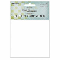 Ranger Ink - Wendy Vecchi - Perfect Cardstock - White Cards - 10 Pack