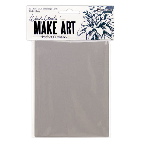 Ranger Ink - Wendy Vecchi - Perfect Cardstock - Landscape Style Cards - Grey