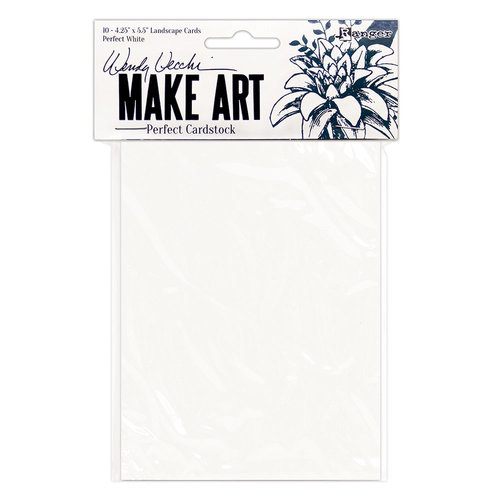 Ranger Ink - Wendy Vecchi - Perfect Cardstock - Landscape Style Cards - White
