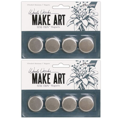 Ranger Ink - Wendy Vecchi - Make Art - Stay-tion - Magnets - 2 Pack
