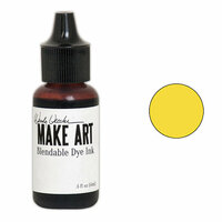 Ranger Ink - Wendy Vecchi - Make Art - Blendable Dye Ink Pad Reinker - Buttercup