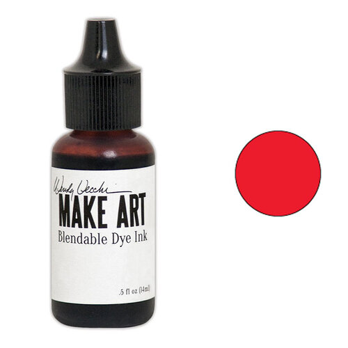 Ranger Ink - Wendy Vecchi - Make Art - Blendable Dye Ink Pad Reinker - Carnation Red