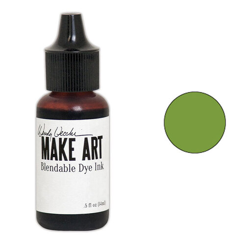 Ranger Ink - Wendy Vecchi - Make Art - Blendable Dye Ink Pad Reinker - Leaf Green