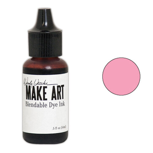 Ranger Ink - Wendy Vecchi - Make Art - Blendable Dye Ink Pad Reinker - Pink Peony