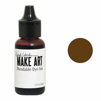 Ranger Ink - Wendy Vecchi - Make Art - Blendable Dye Ink Pad Reinker - Potting Soil