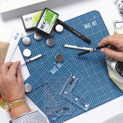 Ranger Ink Wendy Vecchi Make Art Stay-tion and Magnetic Ruler