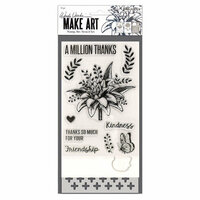 Ranger Ink - Wendy Vecchi - Make Art - Stamp, Die, and Stencil Set - A Million Thanks