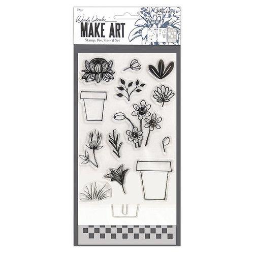 Ranger Ink - Wendy Vecchi - Make Art - Stamp, Die, and Stencil Set - Flower Pot