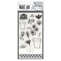 Ranger Ink - Wendy Vecchi - Make Art - Stamp, Die, and Stencil Set - Flower Pot
