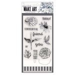 Ranger Ink - Wendy Vecchi - Make Art - Stamp, Die, and Stencil Set - Flowers Say It All