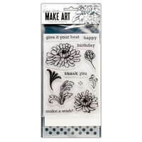 Ranger Ink - Wendy Vecchi - Make Art - Stamp, Die, and Stencil Set - Thank You