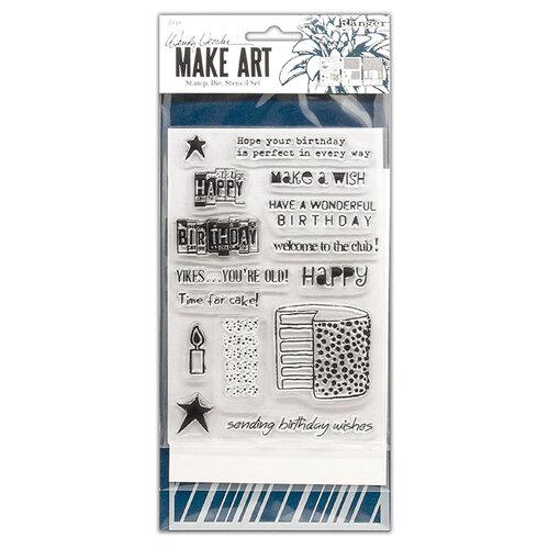 Ranger Ink - Wendy Vecchi - Make Art - Stamp, Die, and Stencil Set - Birthday Bash