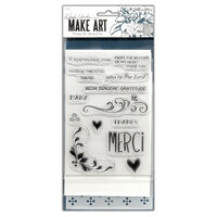 Ranger Ink - Wendy Vecchi - Make Art - Stamp, Die, and Stencil Set - Merci and More