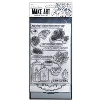 Ranger Ink - Wendy Vecchi - Make Art - Stamp, Die, and Stencil Set - Warm Wishes