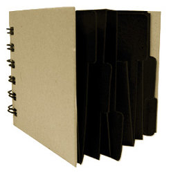 Rusty Pickle - Pocketed Spiral Album - 3.5x3.5 - Black, CLEARANCE