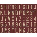 Rusty Pickle - Chipboard Alphabet - Red and Cream