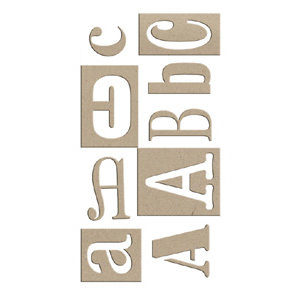 Rusty Pickle - Chipboard Alphabet - Random Font