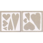 Rusty Pickle - Big Love Collection - Chipboard Accents - Pinked and Scalloped Hearts, CLEARANCE