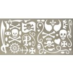 Rusty Pickle - Pirate Princess Collection - Chipboard Accents, CLEARANCE