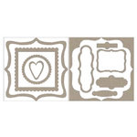Rusty Pickle - Chipboard Accents - Fancy Frames, CLEARANCE