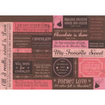 Rusty Pickle - Chocolate Kisses Collection - Cardstock Tags - Chocolate Kisses - Valentine
