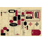 Rusty Pickle - Mayflower Collection - Cardstock Tags, CLEARANCE
