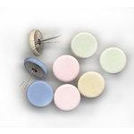 Rusty Pickle - Fabric Brads - Jumbo - Pastel, CLEARANCE