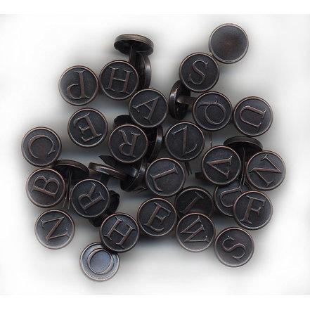 Rusty Pickle - Alphabet Brads, CLEARANCE