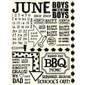 Rusty Pickle - Rub Ons - June - Birthday - Graduation - Dad - Summer, CLEARANCE