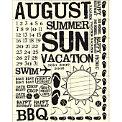 Rusty Pickle - Rub Ons - August - Summer - BBQ - Vacation - Swim
