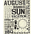 Rusty Pickle - Rub Ons - August - Summer - BBQ - Vacation - Swim