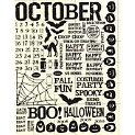 Rusty Pickle - Rub Ons - October - Halloween - Birthday - Cat - Bat, CLEARANCE